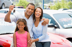 family buying a used car - photo