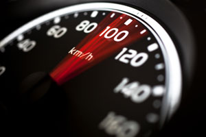 A speedometer showing speed - photo