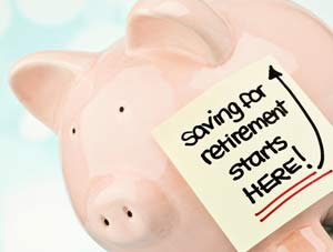 Piggy bank saving for retirement - photo
