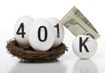 Nest egg - eggs spelling out 401k