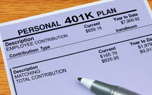 A 401(k) pension plan form - photo