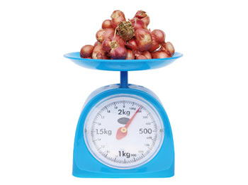 A set of kitchen measuring scales