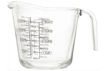 A measuring jug