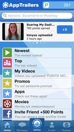 App Trailers on iPhone