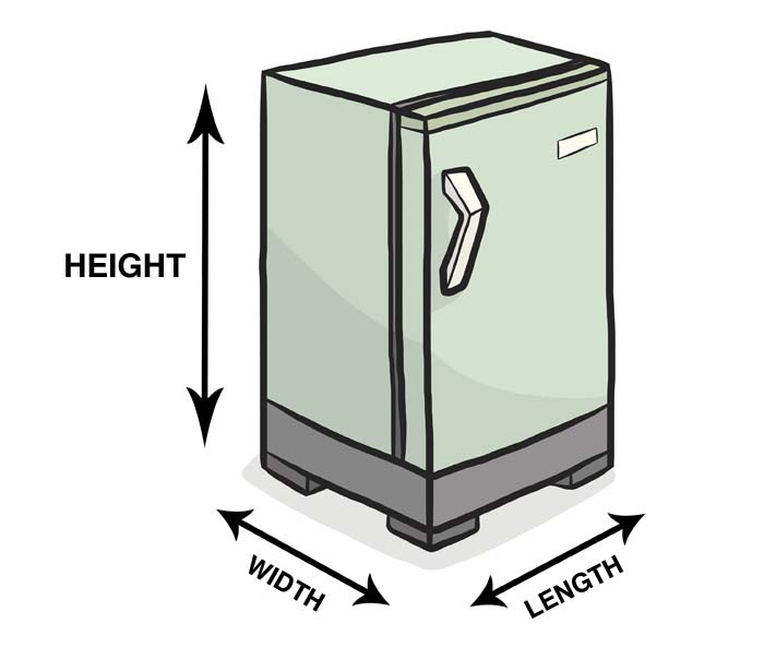 Measuring The Length Width And Height Of A Fridge