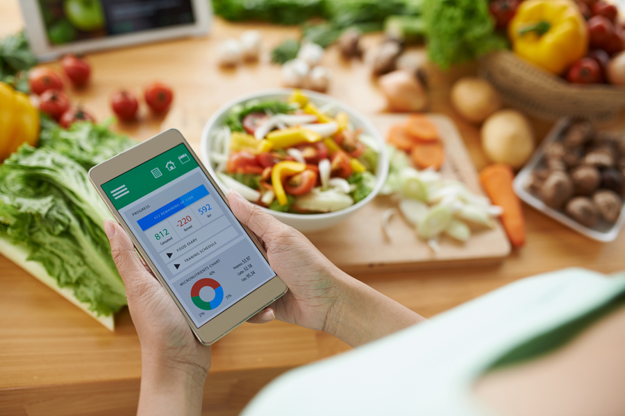 Calculating calories with smartphone app