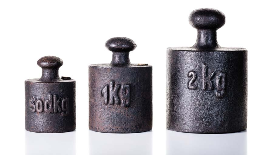 set of vintage iron weights
