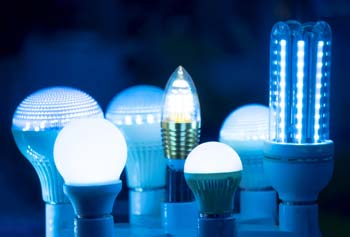 A selection of LED light bulbs