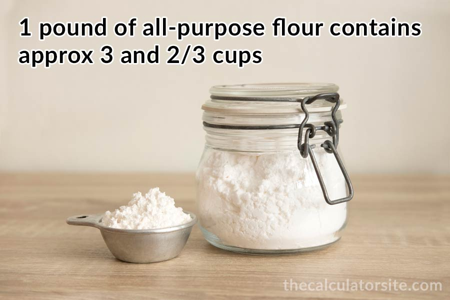 Cups in a pound of all purpose flour