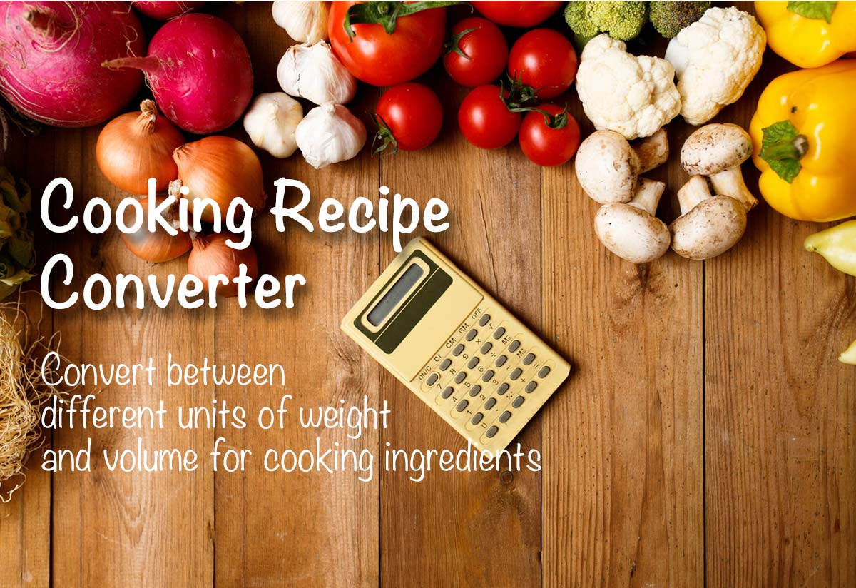 Cooking recipe converter the calculator site forumfinder Images