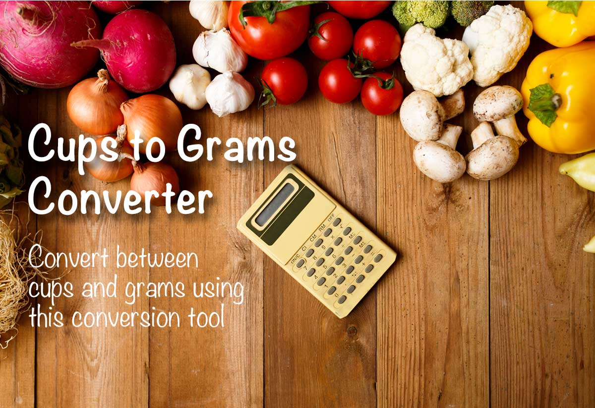 Cups To Grams Converter The Calculator Site