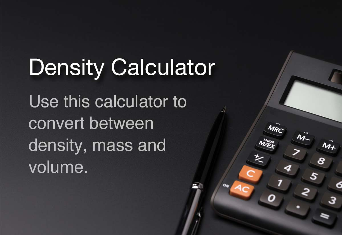 Density Calculator | Density, Mass and Volume