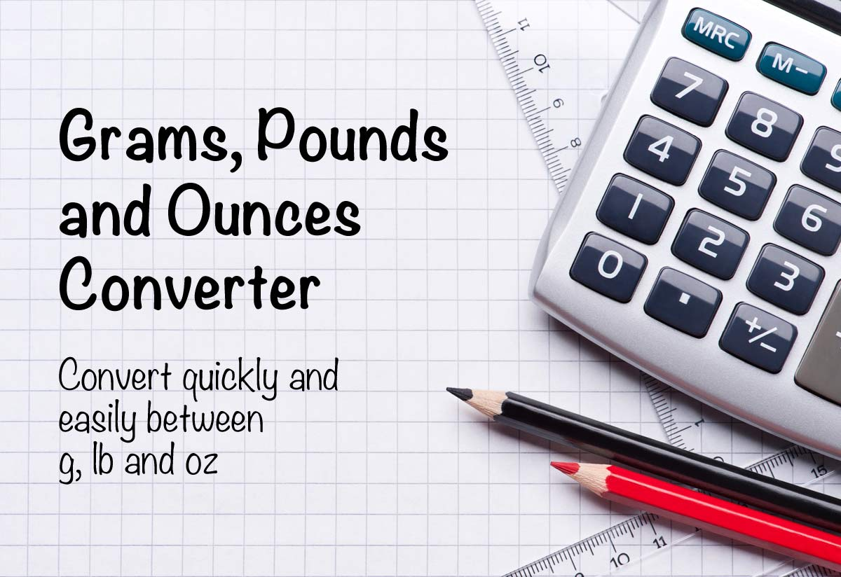 Grams To Pounds And Ounces Converter G Lbs Oz