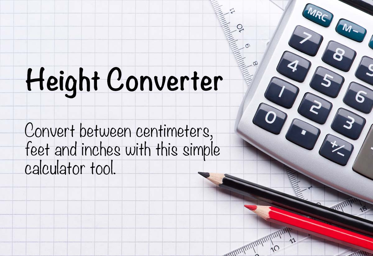 Height Converter Convert Between Cm Feet And Inches