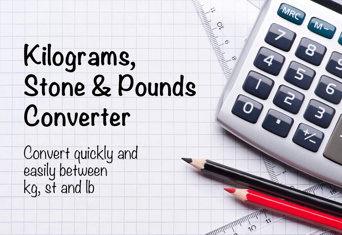 Kilograms To Stones And Pounds Converter