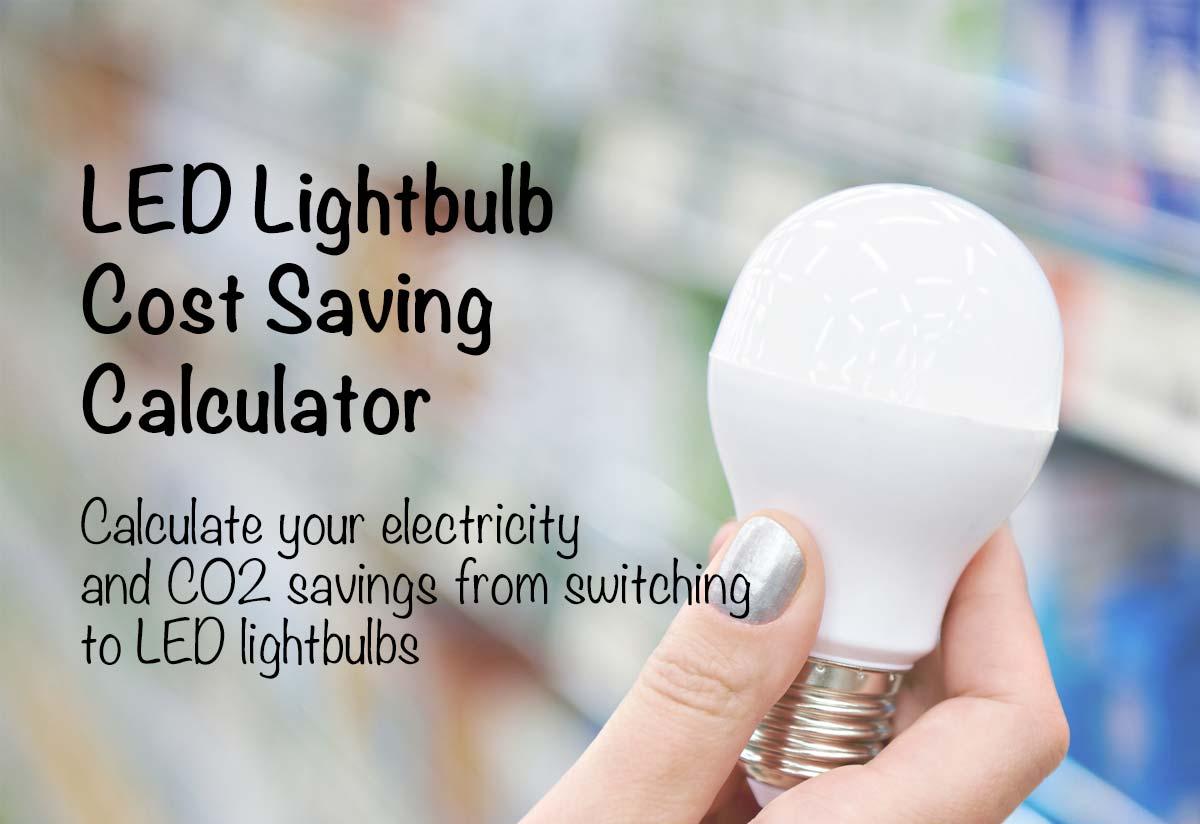 Led Savings Calculator Fluorescent Light Bulb Diagram Pressure Lamp