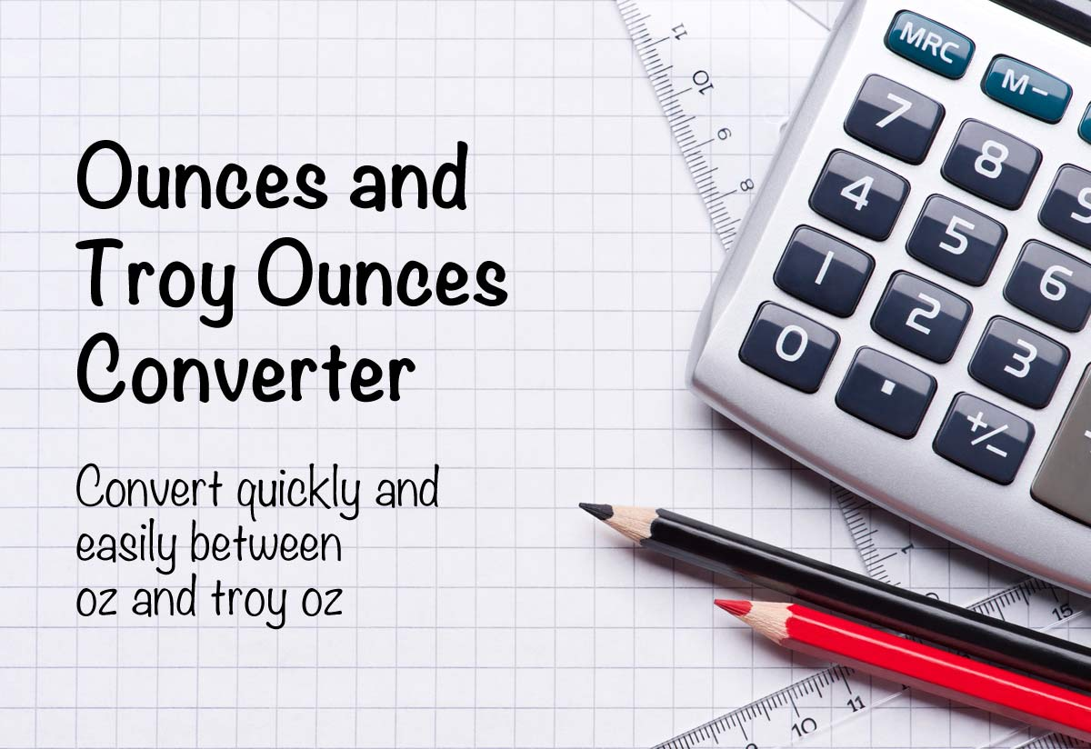 Ounces Oz To Troy Conversion