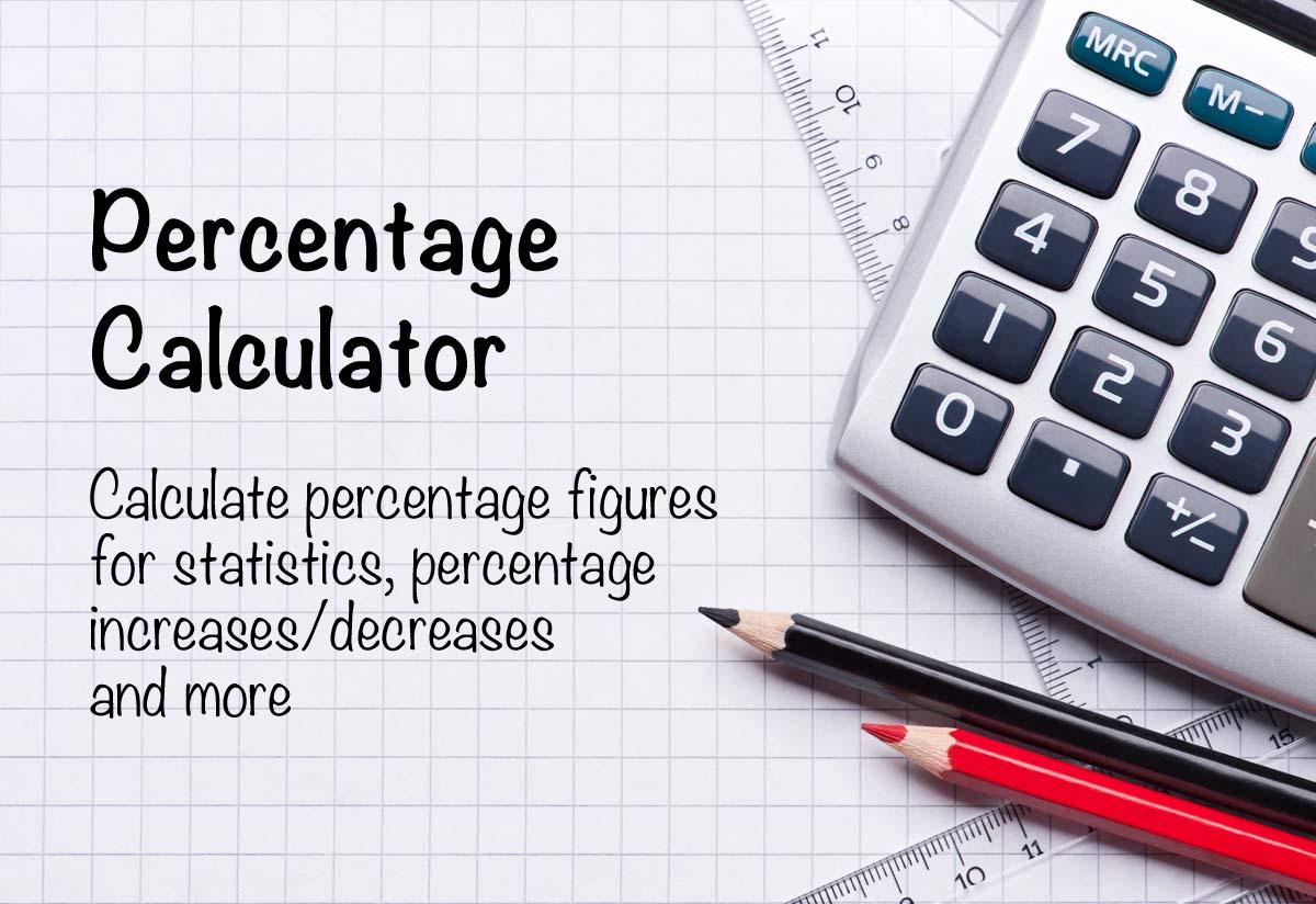 percentage calculators from the calculator site