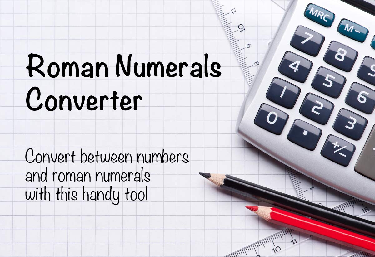 roman numerals converter and translator