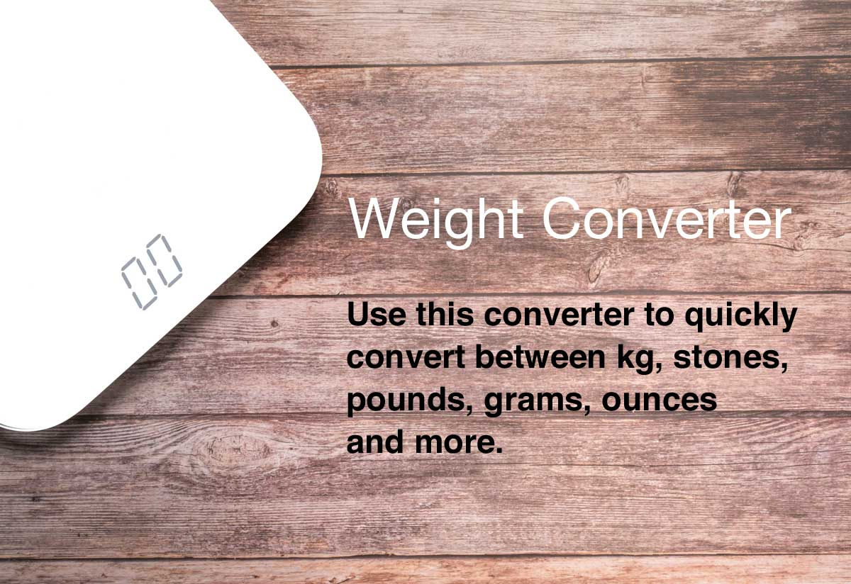 Weight Converter Convert Between Different Units Of Weight
