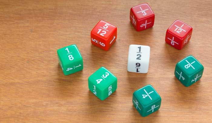 Fractions on dice