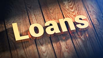 Loans image on coloured background