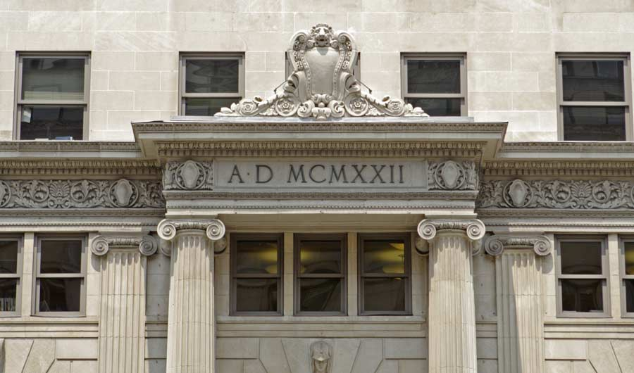 Roman numerals on building in Washington